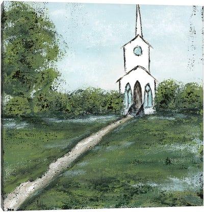 Little Country Church Canvas Art Print