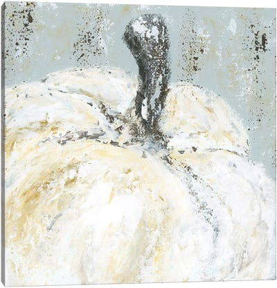 Palette Knife Pumpkin Canvas Art Print