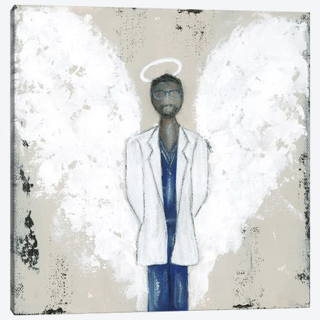 African American Doctor Angel Canvas Print #ASB2} by Ashley Bradley Canvas Print