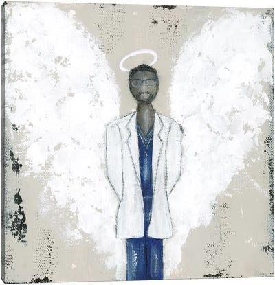 African American Doctor Angel Canvas Art Print