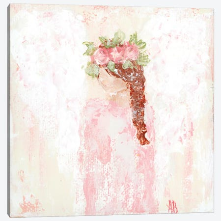 Pink Angel Canvas Print #ASB30} by Ashley Bradley Art Print