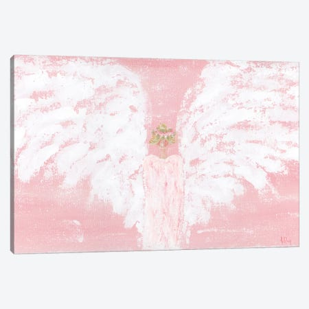 Pink Angel Wide Canvas Print #ASB31} by Ashley Bradley Canvas Print