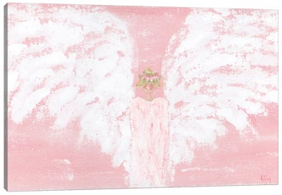 Pink Angel Wide Canvas Art Print