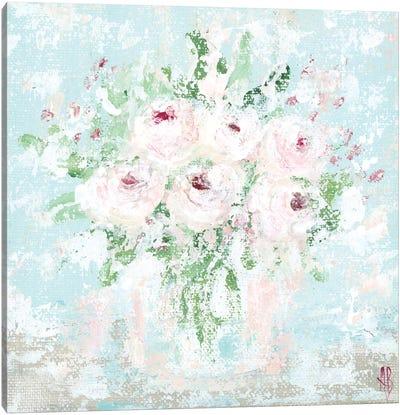 Pink Floral Canvas Art Print