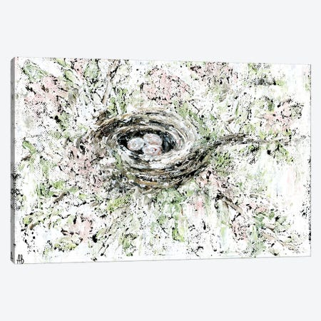 Spring Bird Nest Canvas Print #ASB36} by Ashley Bradley Canvas Art
