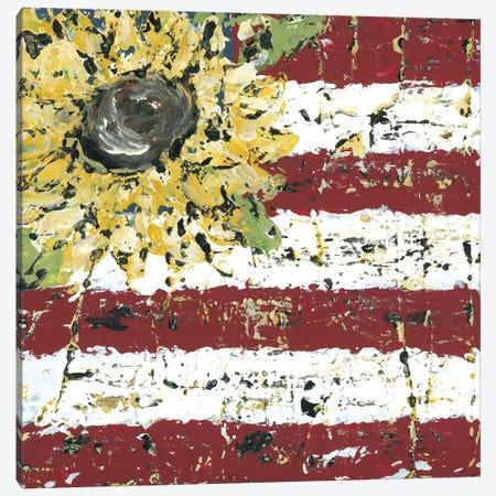 Sunflower Flag Canvas Print #ASB37} by Ashley Bradley Canvas Wall Art