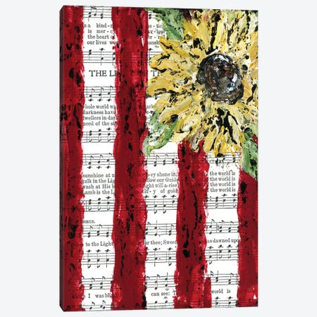 Sunflower Hymnal Flag Canvas Print #ASB38} by Ashley Bradley Canvas Print