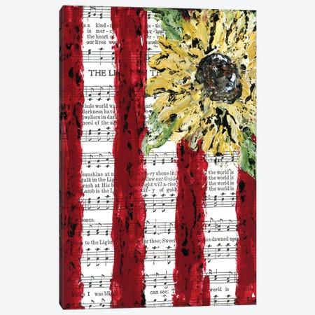 Sunflower Hymnal Flag Canvas Print #ASB38} by Ashley Bradley Canvas Print