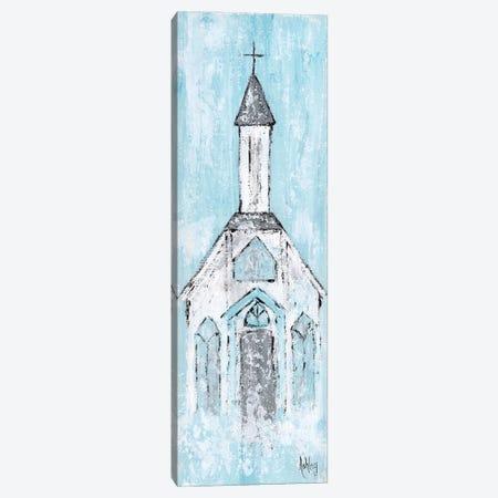 Abstract White Chapel Canvas Print #ASB43} by Ashley Bradley Canvas Artwork
