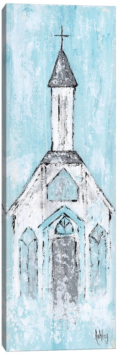 Abstract White Chapel Canvas Art Print