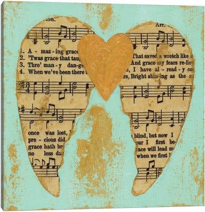 Amazing Grace Blue Gold Canvas Art Print