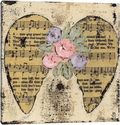 Amazing Grace Floral Canvas Art Print