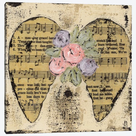 Amazing Grace Floral Canvas Print #ASB47} by Ashley Bradley Art Print