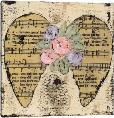 Amazing Grace Floral Canvas Art Print