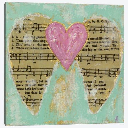 Amazing Grace Pink Canvas Print #ASB48} by Ashley Bradley Canvas Art