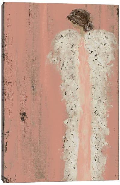Angel Look Over Shoulder Canvas Art Print