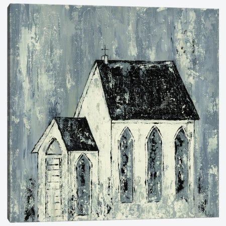 Blue Church Canvas Print #ASB58} by Ashley Bradley Canvas Art Print