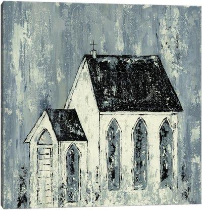 Blue Church Canvas Art Print