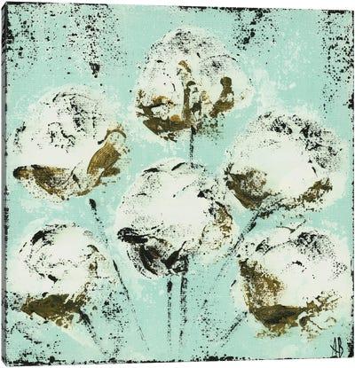 Blue Cotton Stems Canvas Art Print