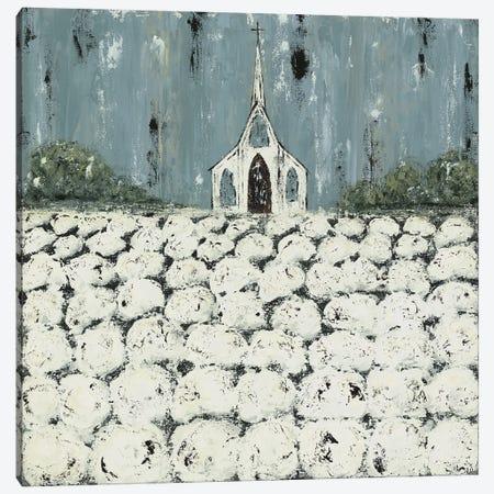 Church Cotton Fields Canvas Print #ASB65} by Ashley Bradley Art Print