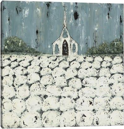 Church Cotton Fields Canvas Art Print