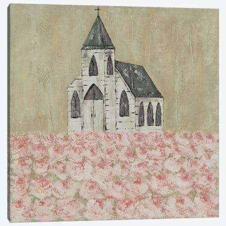 Church Peony Field Canvas Print #ASB66} by Ashley Bradley Art Print