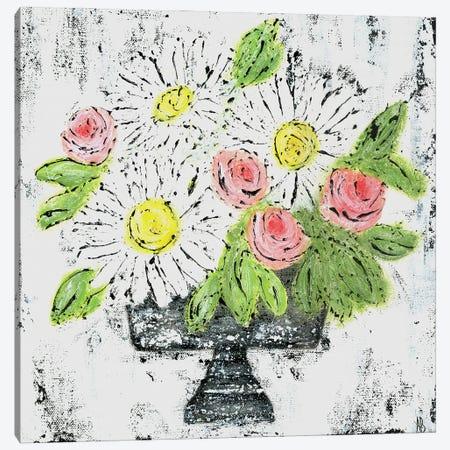 Daisy Floral 3-Piece Canvas #ASB70} by Ashley Bradley Canvas Print