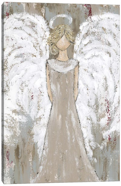 Farmhouse Guardian Angel Canvas Art Print