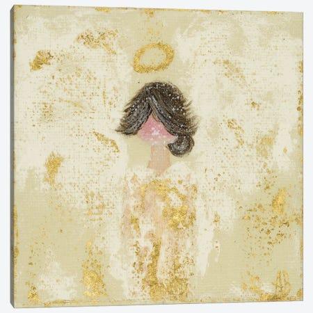Gold Crème Angel Canvas Print #ASB76} by Ashley Bradley Canvas Wall Art