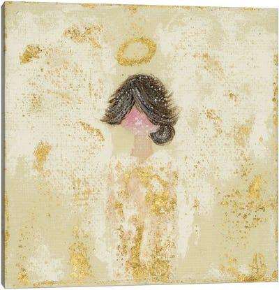 Gold Crème Angel Canvas Art Print