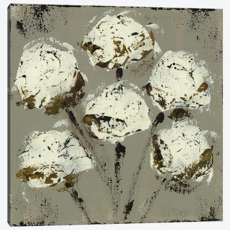 Grey Cotton Stems Canvas Print #ASB78} by Ashley Bradley Canvas Art Print