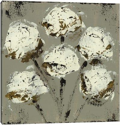 Grey Cotton Stems Canvas Art Print
