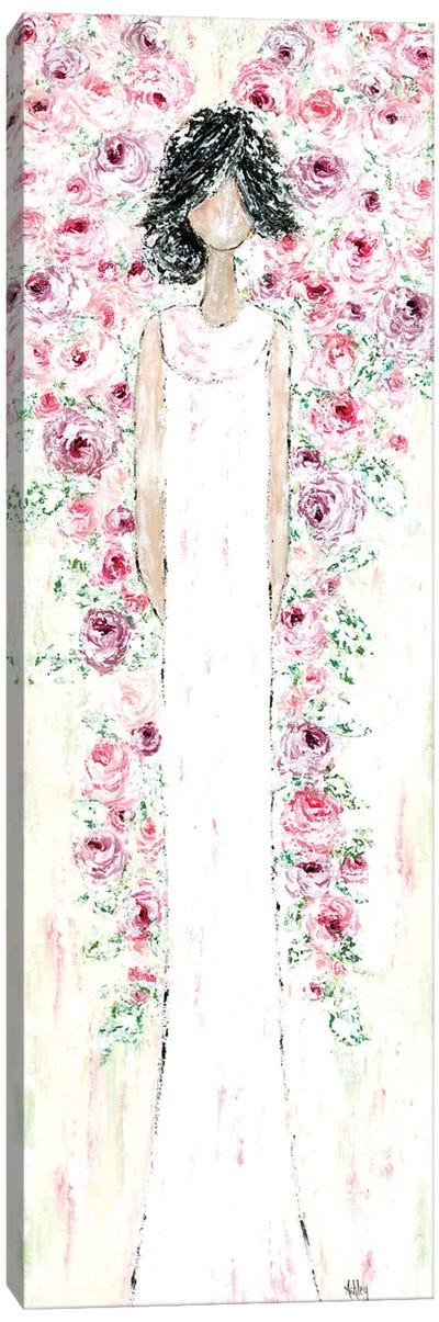 Angel Floral Wings Canvas Art Print