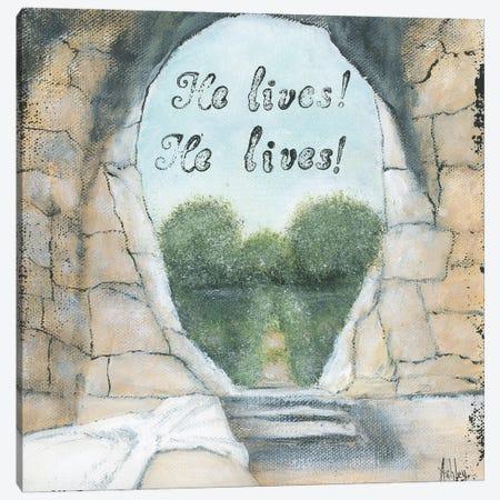 He Lives Canvas Print #ASB80} by Ashley Bradley Canvas Art