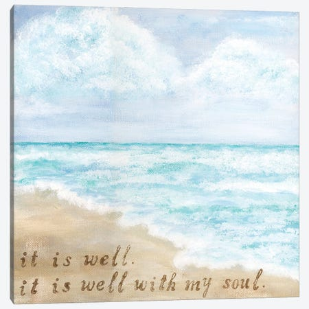 It Is Well Canvas Print #ASB87} by Ashley Bradley Canvas Art Print