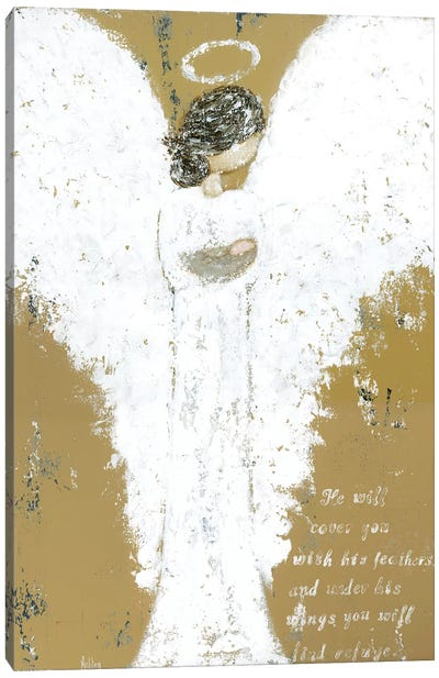 Angel Holding Child Canvas Art Print