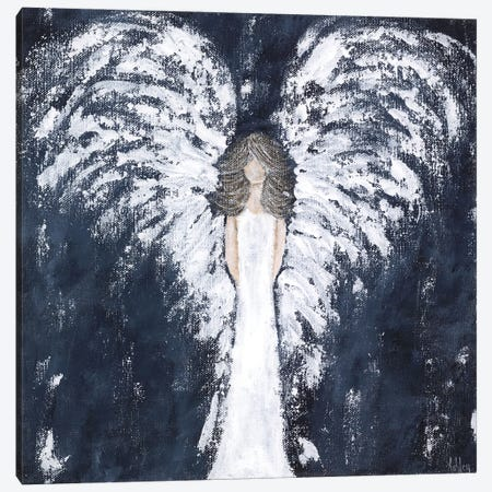 Navy Angel Canvas Print #ASB92} by Ashley Bradley Canvas Print