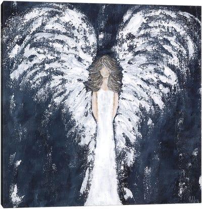 Navy Angel Canvas Art Print