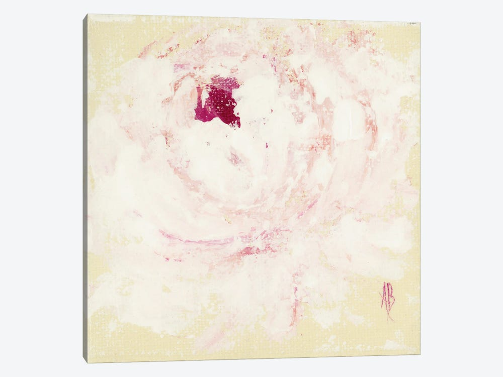 Pink Peony by Ashley Bradley 1-piece Canvas Wall Art
