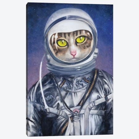 The Astronaut Canvas Print #ASD17} by Adam S. Doyle Canvas Art