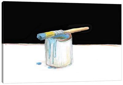 Blue Paint Canvas Art Print