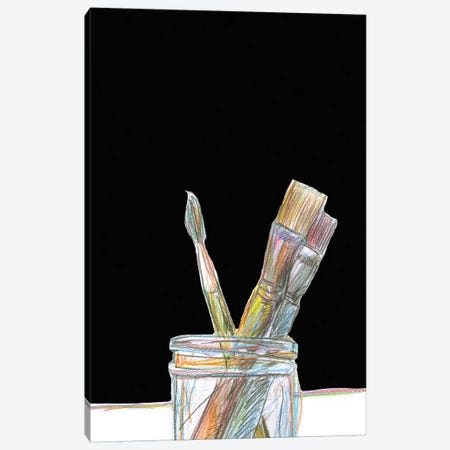 Brushes Canvas Print #ASG2} by Alan Segal Canvas Artwork