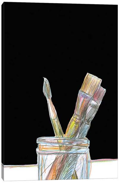 Brushes Canvas Art Print