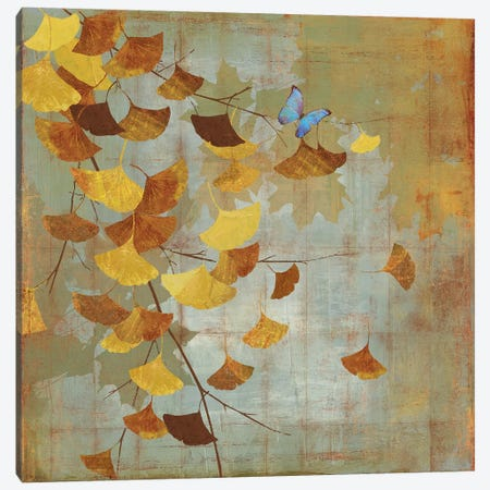 Ginkgo Branch I Canvas Print #ASJ112} by Asia Jensen Canvas Artwork