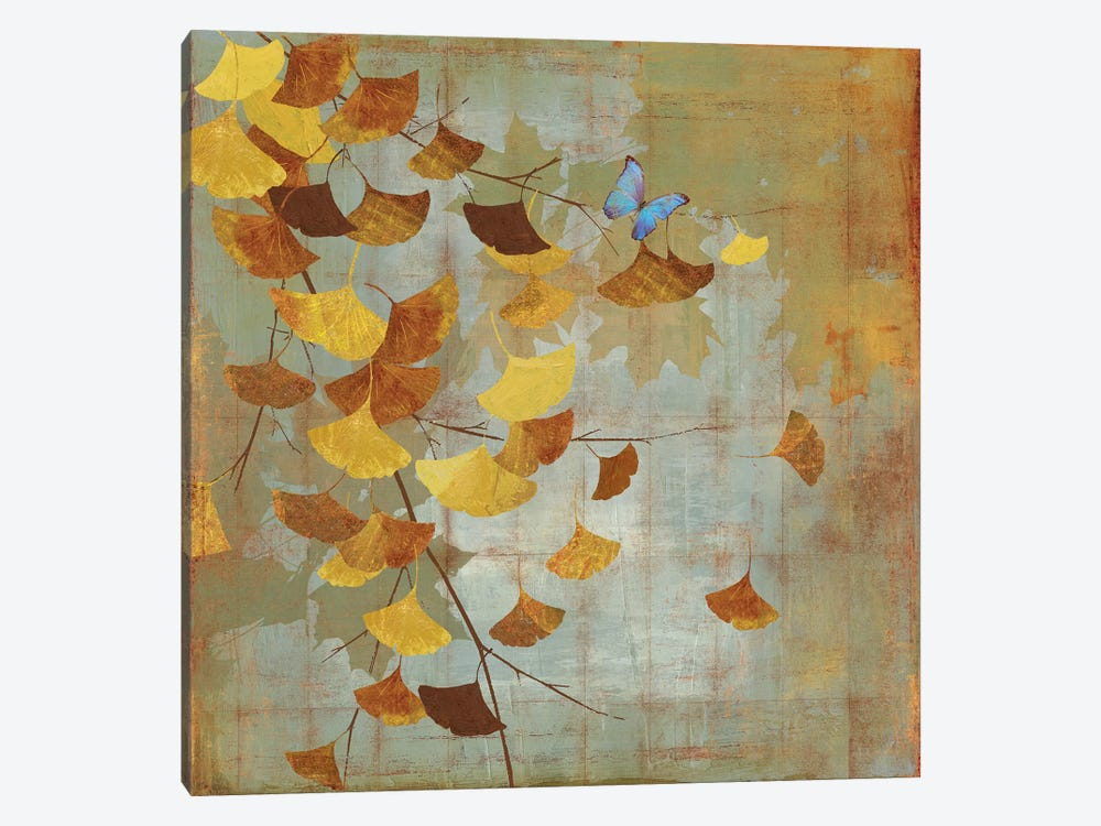 Ginkgo Branch I by Asia Jensen 1-piece Canvas Art Print