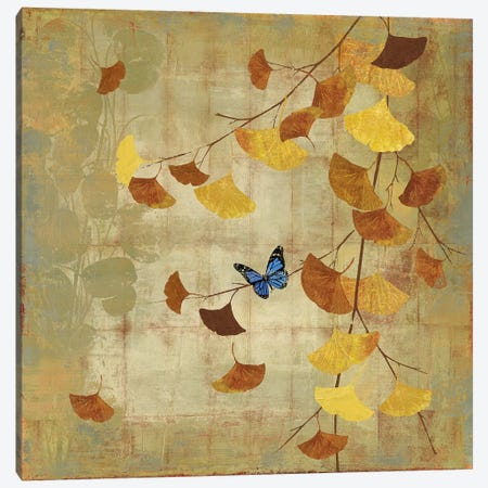 Ginkgo Branch II Canvas Print #ASJ113} by Asia Jensen Canvas Wall Art
