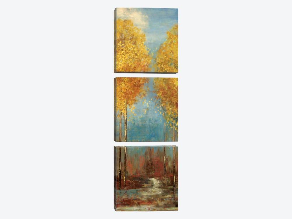 Ginkgo Tree II by Asia Jensen 3-piece Canvas Wall Art