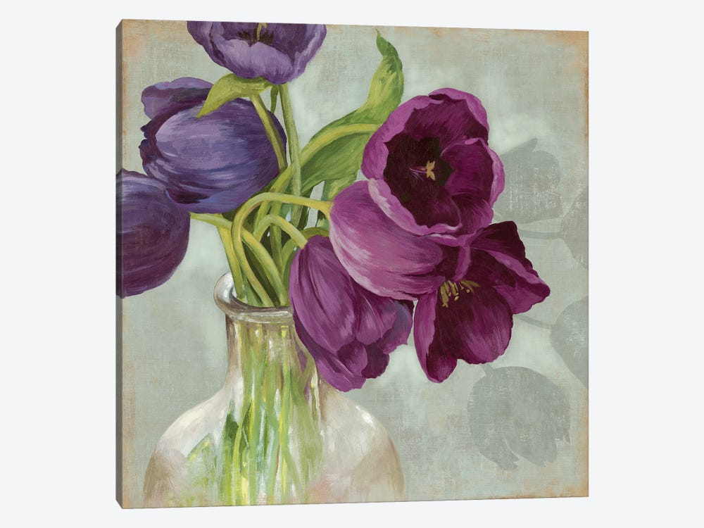 Glass Flowers I by Asia Jensen 1-piece Canvas Art Print