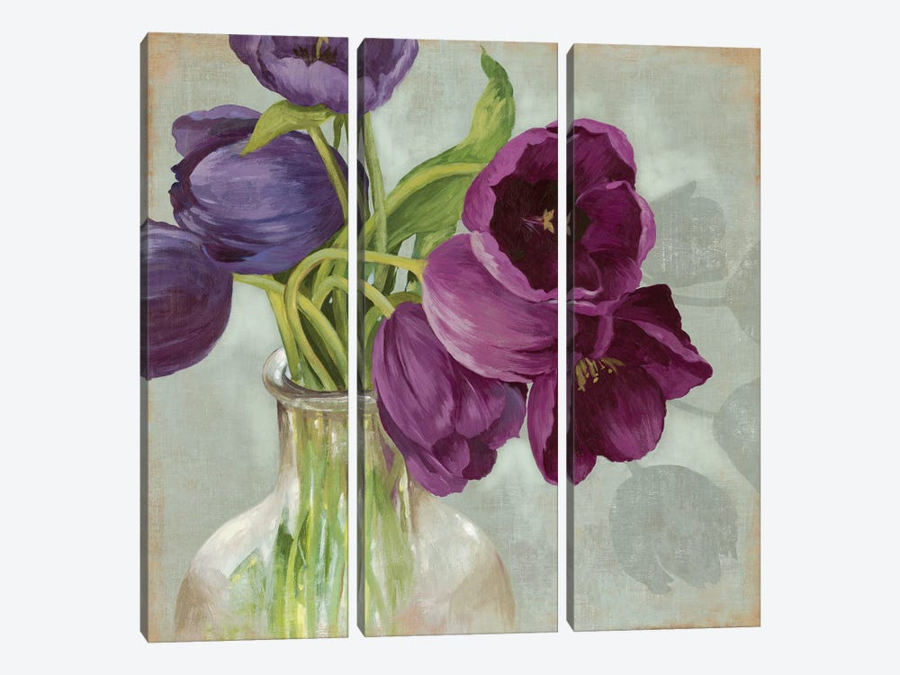 Glass Flowers I by Asia Jensen 3-piece Art Print