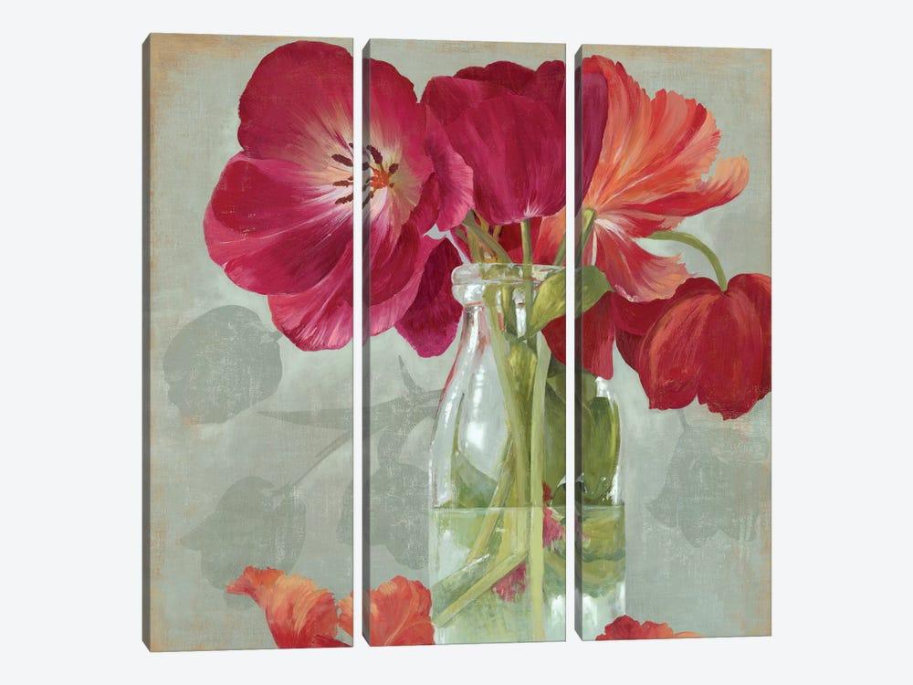 Glass Flowers II by Asia Jensen 3-piece Canvas Wall Art